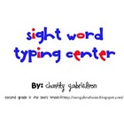 Word Work Center: Typing