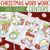 Christmas Word Work Centers: syllables, word families, sig