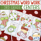 Word Work Centers at Santa's Workshop: syllables, word fam