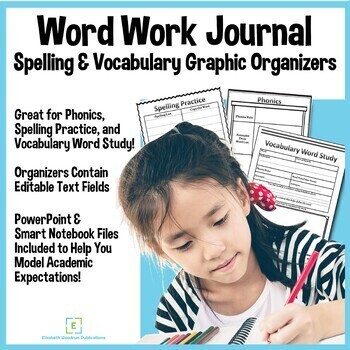 Word Work Journal-Vocabulary Graphic Organizers