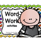 Word Work Literacy Center Activities (common core)