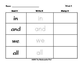 Word Work Literacy Center Activities