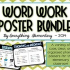 Word Work, Phonics, and Grammar Anchor Poster Bundle