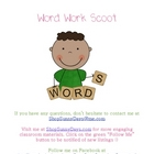 Word Work Scoot Game