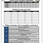 Word Work Spelling Activity Sheet for Rotations and Groups