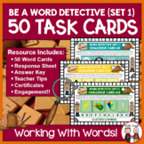 Word Work Task Cards: Four Pictures Equals One Word (50 Cards)