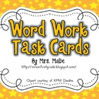 Word Work Task Cards &amp; Recording Sheets