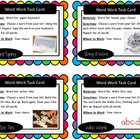 Artsy Teacher Cafe - Word Work Task Cards, Set/16 *Hands-On*