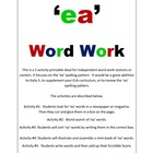 Word Work 'ea' set