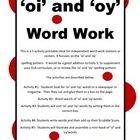 Word Work &#039;oy&#039; and &#039;oi&#039; words