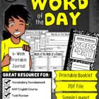 Word of the Day - Student Reference Bank (Printable Bookle