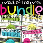 Word of the Week Bundle (synonym, antonym, homophone, and