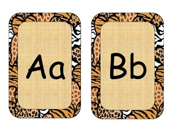 Word wall headers with animal print frame