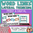"""WordLinks"" Task Cards: 128 Lateral Thinking Cards (Simila"