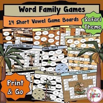 Words Family Games - Short Vowels