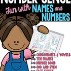 Words, Names, Number Bonds, Tens Frames, & Fact Families..OH MY!