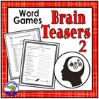 Words That Go Together Brain Teaser Sheet