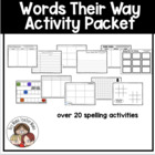 Words Their Way: Activity Packet
