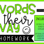 Words Their Way &amp; General Spelling Homework
