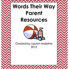 Words Their Way Parent REsources- Beach Theme