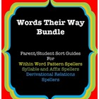 Words Their Way Parent/Student Sort Guides, Bundle: Yellow