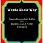Words Their Way Parent/Student Sort Guides, Green Book