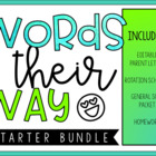 Words Their Way Starter Bundle
