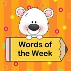 Words of the Week - Writing Sight Words