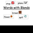 Words with Beginning Blends File Folder Word Wall