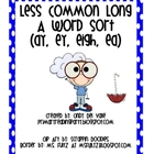 Words with Less Common A (ay, ey, eigh, ea) Word Sort