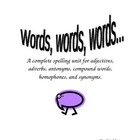 Words, words,words... a  5 week spelling unit