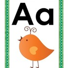 Wordy Birdy Alphabet for word wall