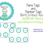 Work To Hoot About Name and Number Tags