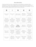 Work on Writing BINGO