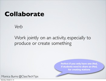 Working Together: iPad Apps that Facilitate Student Collaboration