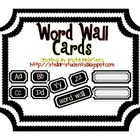 Working the Word Wall Letters and Cards