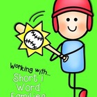 Working with Short i Word Families CVC center activities a