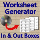 Worksheet Generator: In & Out Boxes