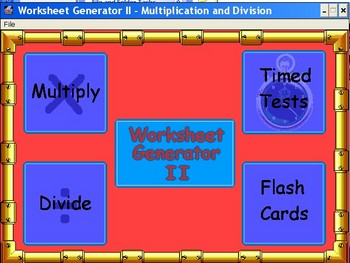 Worksheet Generator - Multiply and Divide