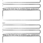Worksheet for compound sentences
