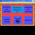 Worksheets - Problem Solving and Estimation