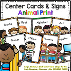 Workstation Rotation Signs and Cards (Animal Print) – Prog