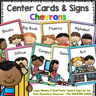 Workstation Rotation Signs and Cards (Chevron)  Programmable
