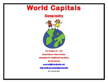 World Capitals Board Game