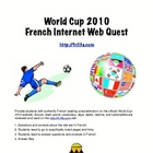 World Cup Soccer 2010:  French Web Quest