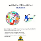 World Cup Soccer 2010 Spanish Web Quest