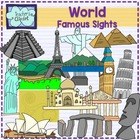 World Famous sights - landmarks clipart