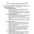 World Geography Syllabus KY specific adaptable for most states