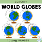 World Globe Clipart - Maps