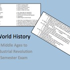 World History End of Year Exam Middle Ages - Industrial Re